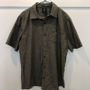 Firefly short sleeve button up gray green size L